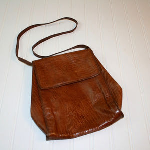 Made in Italy Vintage Brown Leather Purse